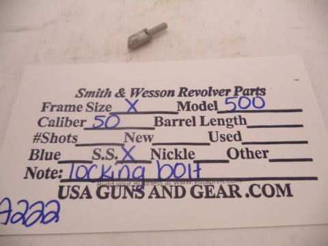 A222 Smith & Wesson Used X Frame Model 500 .50 Caliber S.S. Locking Bolt