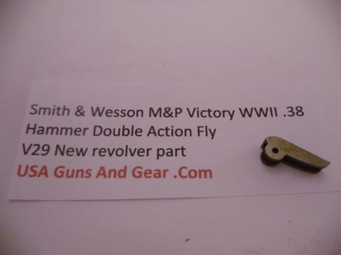 V29 Smith & Wesson New M&P Victory WWII .38 Hammer Double Action Fly