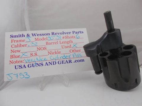 J753 Smith and Wesson Used J frame model 30 Blue .32 Cylinder Assembly