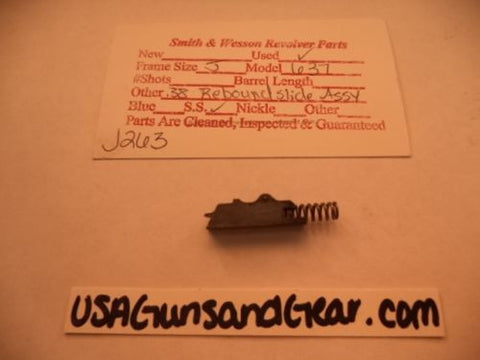 J263 Smith & Wesson Used J Frame Model 637 .38 Special Rebound Slide Assembly -                                USA Guns And Gear-Your Favorite Gun Parts Store