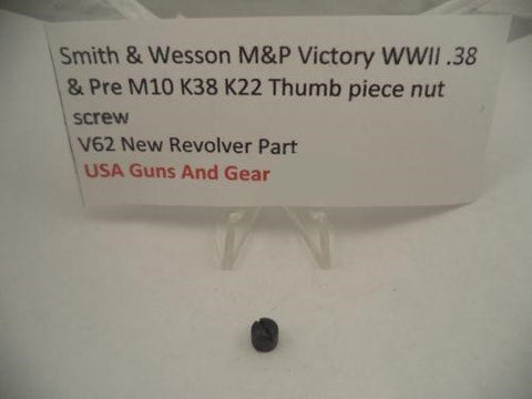 V62 Smith & Wesson New J K L N Frame Knurled Thumb Piece Nut Vintage