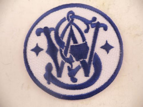 360000709 Smith & Wesson Memorabilia Blue Logo Patch Sew On
