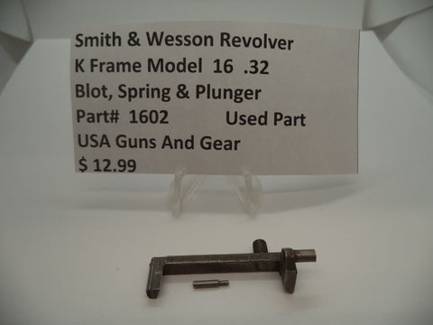 1602 Smith & Wesson Revolver K Frame Model 16 Bolt Plunger & Spring .32