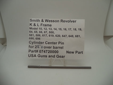 "074720000 Smith & Wesson New K & L Frame Cylinder Center Pin Over 2 1/2"" Barrel"