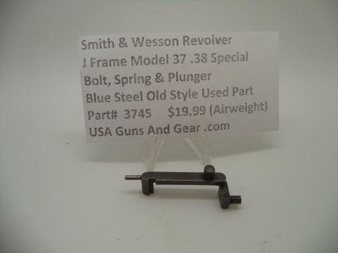 3745 Smith & Wesson Used J Frame Model 37 Blue Airweight Bolt Spring & Plunger