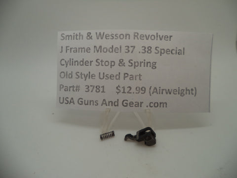 3781 Smith & Wesson Used J Frame Model 37 Airweight Cylinder Stop & Spring