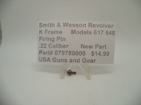 079780000 Smith & Wesson K Frame Models 617 648 Firing Pin .22 Caliber New
