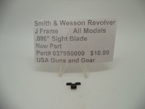 "037950000 Smith & Wesson J Frame All Models .086"" Sight Blade New"