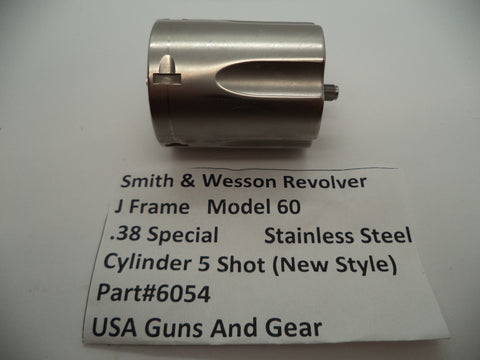 6054 Smith & Wesson J Frame Model 60 Cylinder .38 Special Stainless Steel Used Part