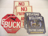 Tin Sign Variety Pack Quantity of 6 Signs 3 Different Designs Man Cave Decor