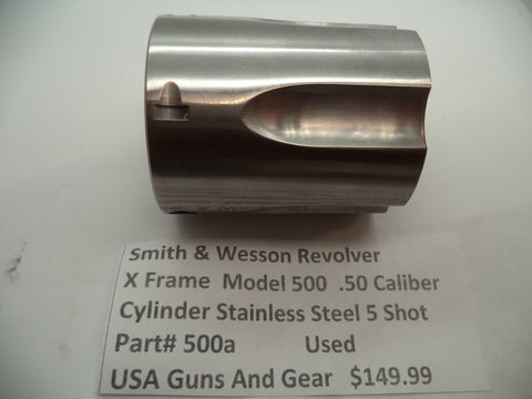500A Smith & Wesson X Frame Model 500 Cylinder 5 Shot .50 Caliber Used Part