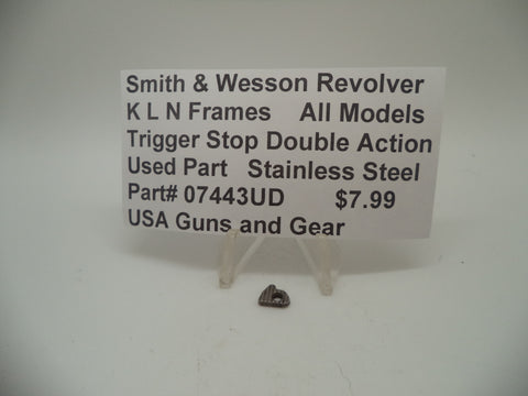 07443UD Smith & Wesson K,L,N Frame All Models Trigger Stop Double Action
