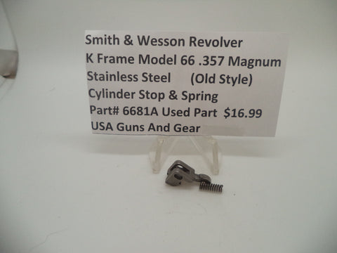 6681A Smith & Wesson K Frame Model 66 Cylinder Stop & Spring Used .357 Magnum