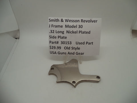 30153 Smith & Wesson J Frame Model 30 Used Nickel Side Plate .32 Long