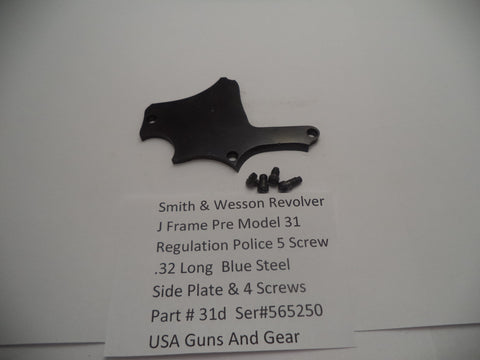 31d Smith & Wesson 5 Screw Pre Model 31 Police Regulation .32 Long Side Plate &