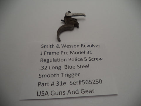 31e Smith & Wesson 5 Screw Pre Model 31 Police Regulation .32 Long Trigger Assem
