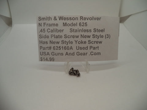625160A Smith & Wesson N Frame Model 625 Used Side Plate Screws .45 Caliber