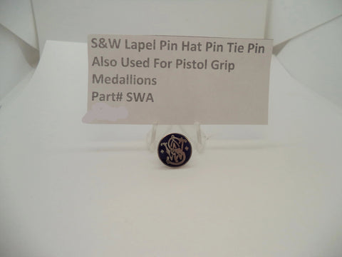 150000409 Smith and Wesson Lapel Pin, Hat Pin, Tie Pin, or Use for Pistol Grips