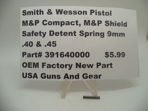 391640000 Smith & Wesson Pistol M&P Safety Detent Spring OEM Factory New Part