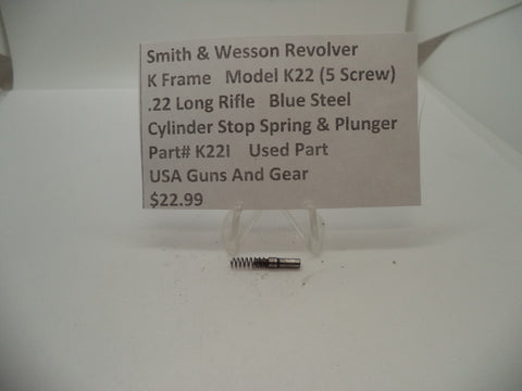 K22I Smith & Wesson K Frame Model K22 Cylinder Stop Spring & Plunger .22 Long Rifle