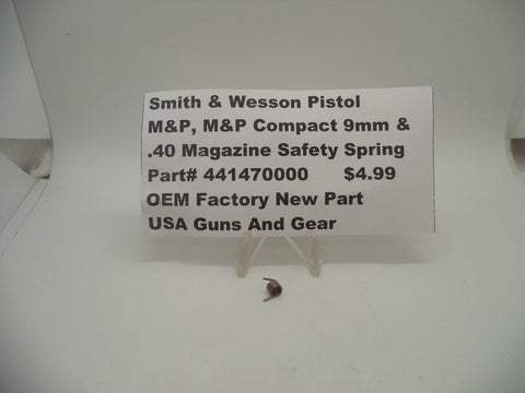 441470000 Smith & Wesson Pistol M&P and Compact 9/40 Magazine Safety Spring