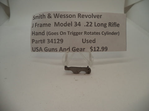 34129 Smith & Wesson J Frame Model 34 Used Hand .22 Long Rifle