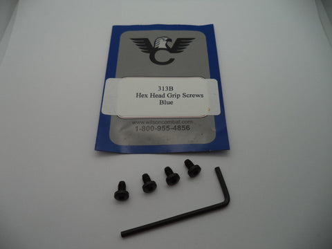 Wilson Combat 1911 Hex Head Grip Screws Blue New Part #313B