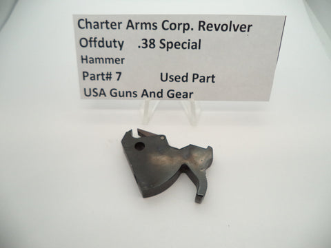7 Charter Arms  Revolver Off Duty Hammer Assembly Blue Steel Used .38 Special