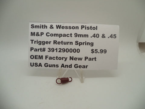 391290000 Smith & Wesson Pistol M&P 9/40 Compact/45 Compact Trigger Return Spring