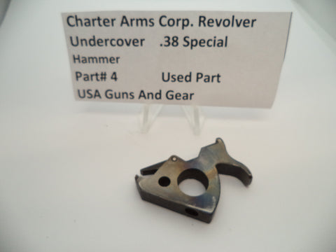 4 Charter Arms Revolver Undercover Hammer Assembly Blue Steel Used .38 Special