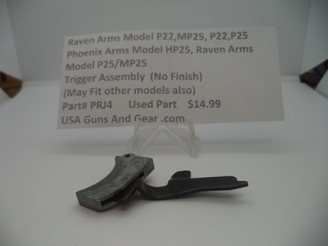 Ravens Arms Model P22, MP25, P22, P25 Trigger Assembly Used Part #PRJ4