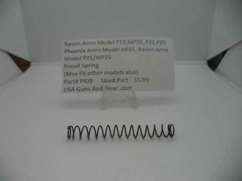 Ravens Arms Model P22, MP25, P22, P25 Recoil Spring Used Part #PRJ9