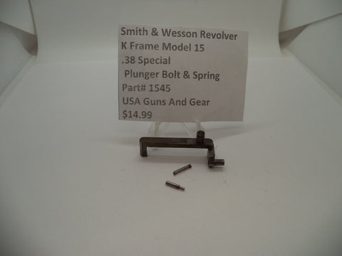 1545 Smith & Wesson K Frame Model 15 Plunger Bolt & Spring .38 Special