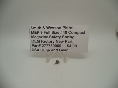 277730000 Smith & Wesson M&P 9 Full Size 40 Compact Magazine Safety Spring New