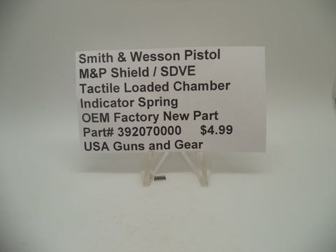 392070000 Smith & Wesson M&P Shield/SDVE Tactile Loaded Chamber Indicator Spring