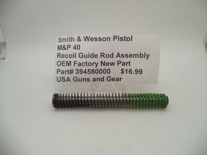 394580000 Smith & Wesson Pistol M&P 40 Recoil Guide Rod Assembly New Part