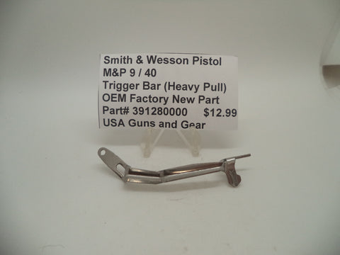 391280000 Smith & Wesson M&P 9 / 40 Trigger Bar Heavy Pull Factory New Part