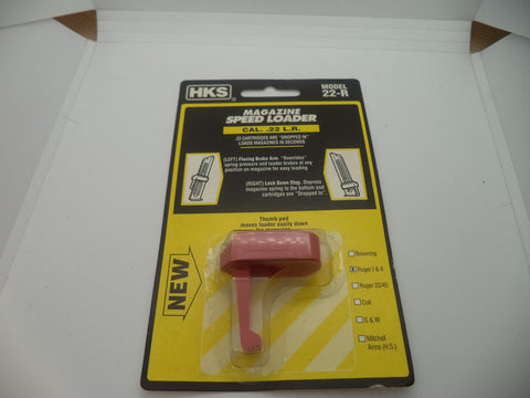 HKS Pistol Magazine Speed Loader Ruger Mark 1&2 New Part #22-R