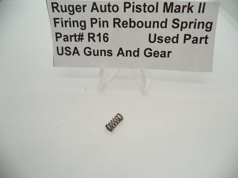 R16 Ruger Auto Pistol Mark II Firing Pin Rebound Spring Used Part