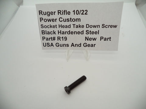 R19  Ruger Rifle 10/22 Power Custom Socket Head Take Down Screw New Part