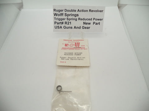 R21 Ruger Double Action Revolver Trigger Spring Wolff Springs Reduced Power New