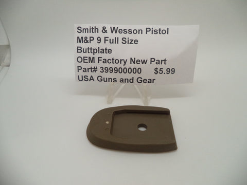 399900000 Smith & Wesson Pistol M&P 9 Full Size Buttplate Factory New Part