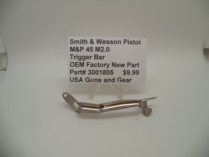 3001805 Smith & Wesson Pistol M&P 45 M2.0 Trigger Bar Factory New Part