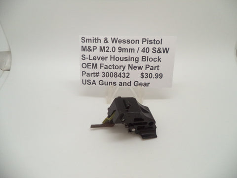 3008432 Smith & Wesson Pistol M&P M2.0 9mm / 40S&W S-Lever Housing Block New