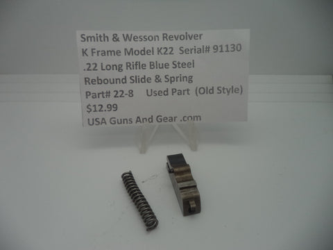 Smith & Wesson K Frame Model K22 Rebound Slide & Spring Used Part 22-8