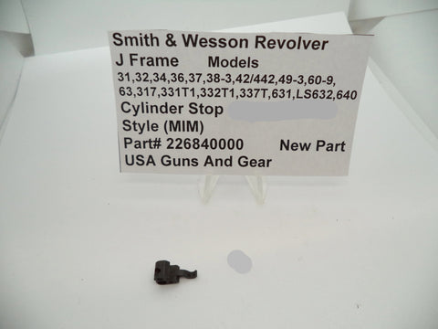 226840000 Smith & Wesson J Frame Revolver Cylinder Stop New Style (MIM)