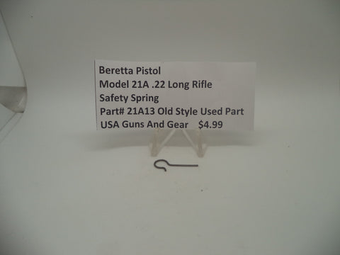 21A13 Beretta Pistol Model 21A .22 Long Rifle Safety Spring Used Part