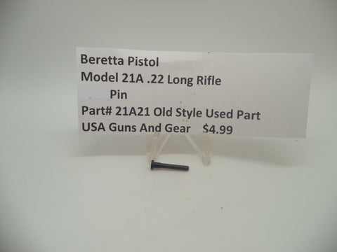 21A21 Beretta Pistol Model 21A .22 Long Rifle S-Lever Pin Blue Used Part