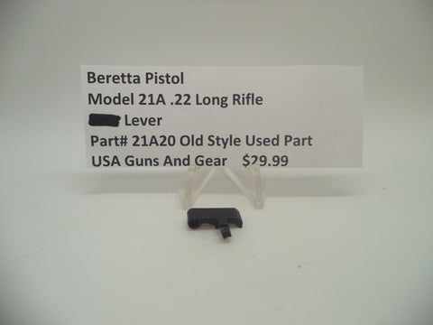 21A20 Beretta Pistol Model 21A .22 Long Rifle S-Lever Blue Used Part