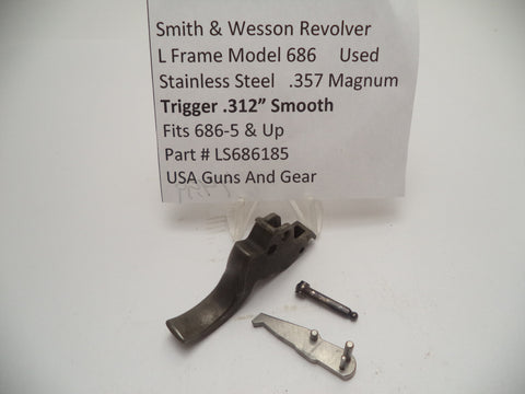 "LS686185 Smith & Wesson L Frame Model 686 .312"" Trigger Used .357 Magnum"